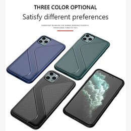 iphone plus shock proof case Canada - Carbon Fiber Case For iPhone 11 Pro max X Max 6 7 8 Plus TPU Rubber Phone case Shock-Proof Full Protect Back Cover