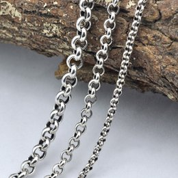 $enCountryForm.capitalKeyWord Australia - New Necklace 100% Real 925 Sterling Silver Necklace Pendant Thick Long Chain Men Women Gift Thai Silver Retro Chain X11 J190530