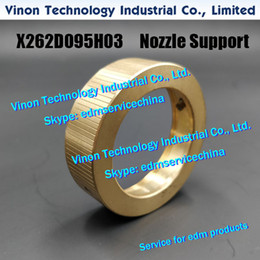 dying machines Canada - X262D095H03 edm Upper Nozzle Support for Die Housing D X253C989H01 for Mitsubishi BA8,BA24,MVR,MVS edm machines DCC7900,DCC79A,S921N313P06