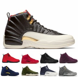 Ingrosso 12 12 OVO White Gym Red Wntr The Master Gamma Blue Scarpe da basket da uomo XII Taxi Flu Gioco French Blue CNY Sports Sneakers