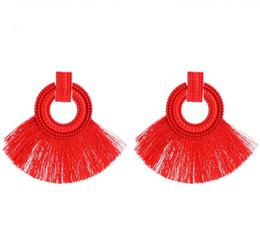 $enCountryForm.capitalKeyWord UK - 6 Colors Bohemian Long Tassel Dangle Handmade Earrings Jewelry Gifts Fringe Ear Drop Studs For Women Girls