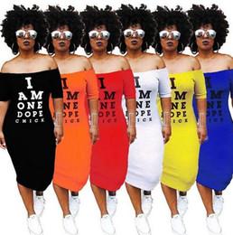 $enCountryForm.capitalKeyWord NZ - Summer new nightclub European and American style letters super long printed bag hip skirt Ms. word collar short sleeve sexy dress