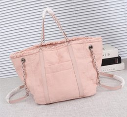 $enCountryForm.capitalKeyWord Australia - New style Top quality womens luxury designer shoulder bag Mixed fiber Beach bag shopping bag trendy holiday Mommy handbag 9092 size 38cm
