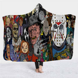 Hoodie scarves online shopping - 2019 Hot style Warmer hoodie cape magic hat blanket children s siesta blanket wearing hat blanket horror film series