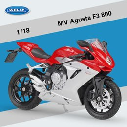 boys xmas toys Australia - Welly Diecast Alloy MV Agusta F3 800 Motorcycle Model Toys, 1:18 Scale, Ornament for Xmas Kid Birthday Boy Gifts Collecting, Decoration, 2-1