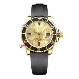 DiamonD bracelet Digital watch online shopping - 1 Colors Luxury Watch Diamond And Day All The Gold Black Ceramic Bezel Dial Date mm Automatic Or Rubber Bracelet Men Watch