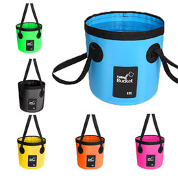 Black Swimming Toys Australia - 6 Styles Fish Bucket Storage 20L Folding Bag Clothes Storage Laundry Bucket Toy Buckets For Kids For Traveling Hiking Fishing Boating M238Y