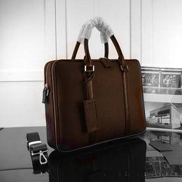 5980436389f6 4 Фотографии Верхние кожаные портфели для продажи-Портфель для документов  из натуральной кожи 2019 года Высококачественный портфель