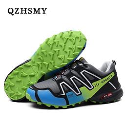 Venta al por mayor de Zapatos de senderismo para hombres Deportes al aire libre Escalada Zapatillas de montaña Malla transpirable Atletismo suave Zapatos de trekking # 4426