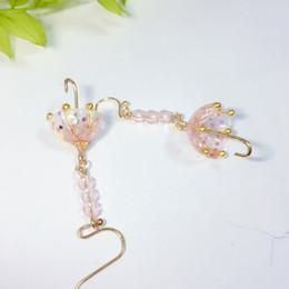458041880415 Moda hecho a mano CHUYU cristal resina lluvia paraguas pendientes clip de  oreja chica encantadora corazón original joyería hecha a mano