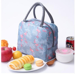 Discount office tote bags for women - flamingo Thermal Lunch Bag for Women Kids Men Office work Insulated Cooler Storage pack Adults Picnic Food Box Tote KKA6