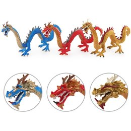 dress lions mascot UK - New Style Model Solid Chinese Dragon Model Eastern Mythology Legend Mascot Mythical Creatures Garage Kit Decoration