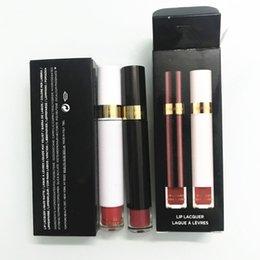 Mixing Red Purple Lipstick Australia - Hot Brand Makeup 2pcs Tom Cosmetics Ford rouge a levre Matte Liquid Lipstick Beauty Lipgloss Long Lasting lip Gloss Set