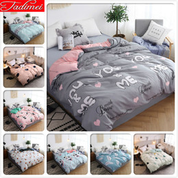 beds single size Australia - 1 piece Duvet Cover Adult Kids Soft Cotton High Quality Bedding Bag Single Twin Full Queen King Size Bedspreads 150x200 220x240