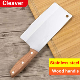 $enCountryForm.capitalKeyWord NZ - Stainless Steel Kitchen Chef Knife Meat Cleaver Butcher Chopper Vegetable Cutter Kitchen Knife with Wood Handle