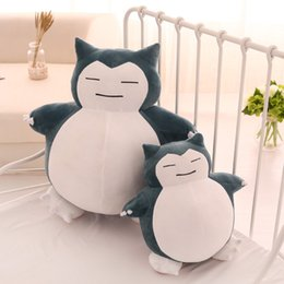 japanese lovely dolls UK - Cute Big Snorlax Anime Plush Toys Lovely Cartoon Japanese Soft Large Pillow Stuffed Animal Doll Gift for Children Dropshipping Y200703