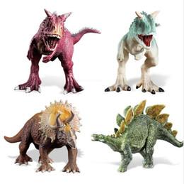 Giocattolo modello di dinosauro carnivoro classico educativo per bambini Jura Niulong Jianlong Giocattolo modello di plastica Jurassic triceratopo per bambini