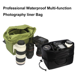 dslr slr camera Australia - Waterproof DSLR SLR Camera Insert Padded Partition Camera Lens Bag Handbag Case