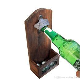 Wholesale Bar Gadgets Australia - Antique Iron Wall Mounted Bottle Cap Opener Bar Tool Gadgets Home Decor Kitchen Accessories Party Supplies Wedding Decorations