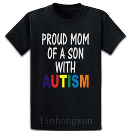 Autism Awareness T Shirt Cotton louco Rodada Collar Designs Lazer engraçado Casual Traje Primavera Outono shirt