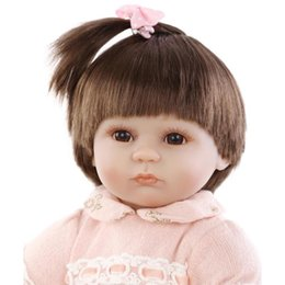 rubber latex dolls Australia - Hot New Fashion 43 Cm Baby Reborn Baby Dolls Lifelike Doll Reborn Babies Toys Soft Silicone Baby Toys Real Touch Lovely Newborn Accessories