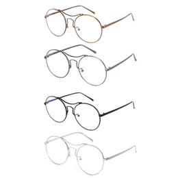 $enCountryForm.capitalKeyWord UK - Optical Glasses Metal Frame Vintage Round Fashion Eyewear Decorative Spectacles