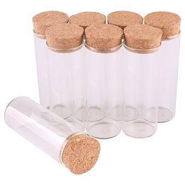 craft bottles corks wholesale Australia - 24pcs 40ml size 30*80mm Test Tube with Cork Stopper Spice Bottles Container Jars Vials DIY Craft