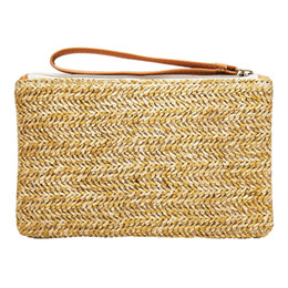 $enCountryForm.capitalKeyWord Australia - Women Straw Bag New Fashion Bohemian Clutch Bags lady Handbag Handmade Rattan Bag Corn Peels Woven Summer Casual Beach Pocket