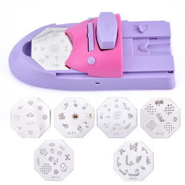 stamp manicure NZ - 1 Set Professional Nail Art DIY Pattern Printing Manicure Machine Stamp Stamper Nail Tools Color Drawing Polish Printer