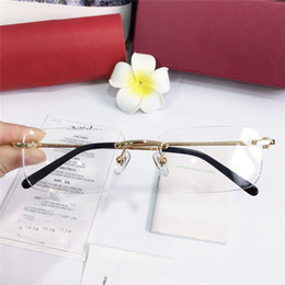 Double top plate online shopping - Best selling glasses frame k frame gold plated ultra light optical glasses legs for men business style eyewear top quality with box3645642