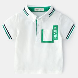New England Clothes Australia - New summer children's clothes, women's style, England style, pure cotton, short sleeve, polo shirt, boy's coat