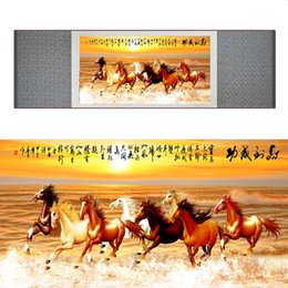 $enCountryForm.capitalKeyWord NZ - Traditional Chinese Art Painting Horse Art Painting Silk Scroll Art Painting Horse Picture 040703