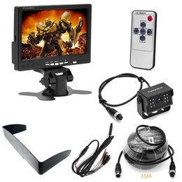 Lcd monitor for bus online shopping - 7 Inch HD TFT LCD Car Monitor IR Night Vision Rear View Backup Camera pins M Extention Cable for Bus Houseboat Truck