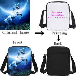Customized Bags Australia - Customized Individual Image Name Logo Small Crossbody Bags For Women Men Sling Bag Shoulder Bag Handbag Messenger Sac A Main