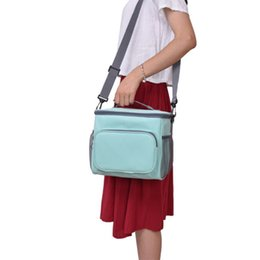 women lunch bag cooler NZ - 1women Kids Picnic Men And Women Soft Cooler With Shoulder Soild Color Lunch Bag