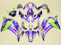 Zx 14 Fairing Purple Australia - 3gifts New Injection ABS Fairings Kit Fit For Kawasaki Ninja ZX-10R ZX10R 10R 2011 2012 2013 2014 2015 body 11 12 13 14 15 16 purple green