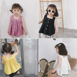 d02ee65e583 Baby Doll Fashion Tops Australia - 2019 Summer Sleeveless Cotton Four Color  Baby Shirt Children Casual