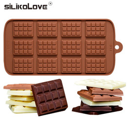 Christmas siliCone baking molds online shopping - Hot D Silicone Chocolate Molds for Chocolate Bar DIY Baking Chocolate Mould Kitchen Even Silicone