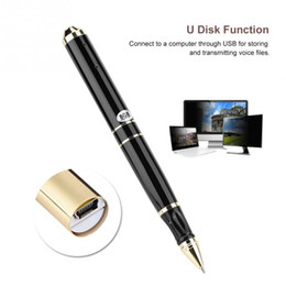 flash drive memory pen drives Australia - Pen Digital Voice Recorder 8 16GB USB Flash Drive Micro Audio Sound Recording Device Small Dictaphone in Pen Shape Support Memory Extension
