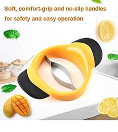 Orange peeler slicer online shopping - Mango Slicer Mango Peeler Cutter Splitter Pitter with Stainless Steel Blade and Easy Grip Handles Orange