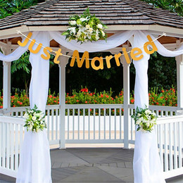 $enCountryForm.capitalKeyWord Australia - JUST MARRIED String Of Flags Paper Quality Golden Exquisite Romantic Gradation Banner Rustic Wedding Decorations ECO Friendly 2 8jdD1
