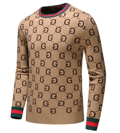 Mens cotton crew neck sweaters online shopping - 2019 Mens Sweater Pullover Men Brand Deisgner Hoodie Long Sleeve Designer Sweatshirt Letter Embroidery Knitwear Winter Clothing size M XL