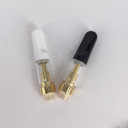 $enCountryForm.capitalKeyWord Australia - E cig Atomizers TH205 Glass Wax Vaporizer Ceramic Wickless Gold Color Thick Oil Vape Carts 510 Vape Pen Disposable Atomizer