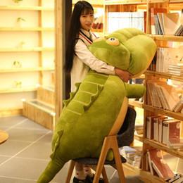Crocodiles Alligator Toys Australia - Jumbo Cute Cartoon Crocodile Plush Toy Giant Stuffed Animal Alligator Doll Pillow for Children Gift 130cm 170cm