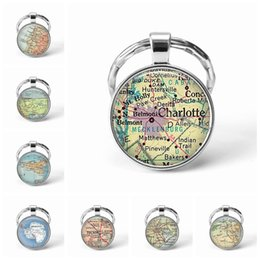 map keychain Australia - Newest Metal Keychain Handmade Vintage Portugal World Map Earth Geography Key Chain Glass Dome Keychains For Men Women Gift