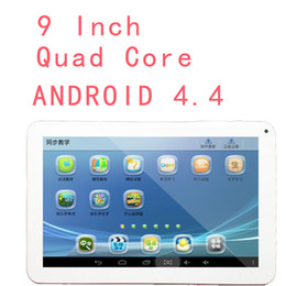 android tablet pc white Canada - 1pcs 9 inch 800*480 Allwinner A33 Quad Core F900 Tablet PC Android 4.4 512 RAM 8G ROM Dual Cameras 0.3M Bluetooth USB OTG