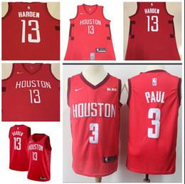 f4bb65869 Men Houston New Season Rockets Jersey 13 Harden 3 Paul Reward Edition  Baketball Jerseys - Red