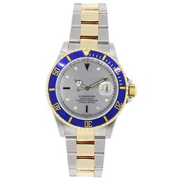 mens sapphire crystal sport watches Australia - Gorgeous Man Wristwatches 40MM Diamond Grey Dial Automatic Mechanical Sapphire Crystal Mens Watch 316L Two Tone Stainless Steel Watches