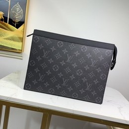Großhandel POCHETTE VOYAGE Monogramm Eclipse-Segeltuchhandtasche Luxus-Designer-Tasche Rindsleder 6 interne Kreditkartenfächer