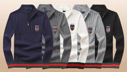 $enCountryForm.capitalKeyWord Australia - GC 7131 wholesale 2019 new high quality polo men's knit twist needle cotton pullover men's simple temperament designer sweater